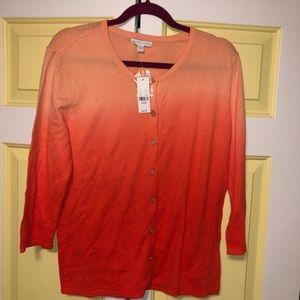 New York & Company Button Down Sweater Longsleeve